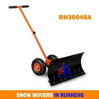 Heated Snow Shovel with Two Wheels
