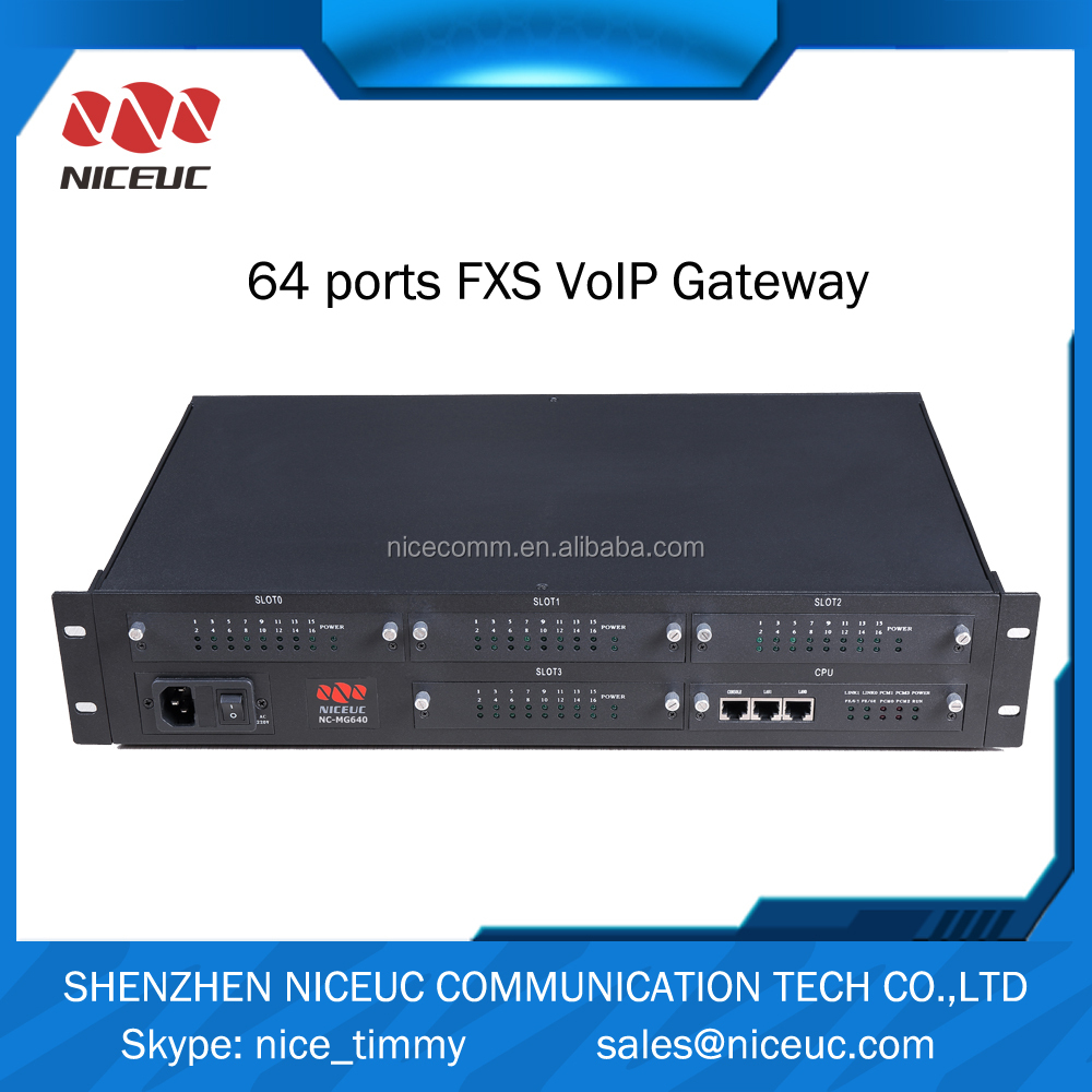 64 ports FXS Analog Telephone Adapter/Voip Phone Adapter voip product