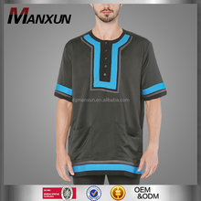 Newest arabic men kurta short sleeves islamic clothing muslim wear for men