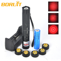 Light Changeable Red Laser Beam LED Flashlight