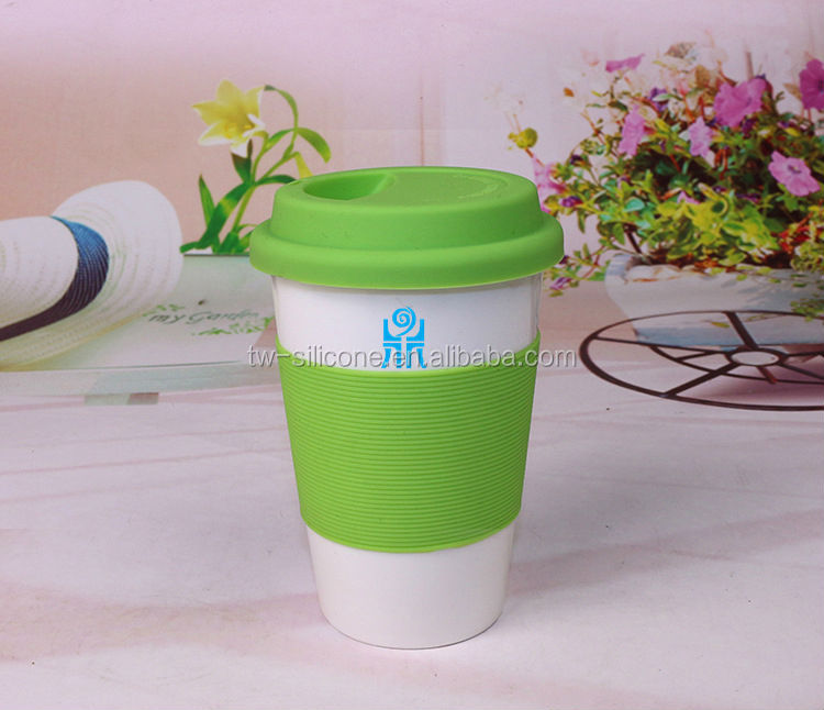 Promotion silicone coffee cup with cover / tea cups with cover
