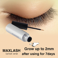 MAXLASH Natural Eyelash Growth Serum (Stainless steel Material and Squared Type eyelash extension tweezers)