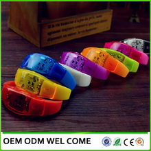 Party item supplier sound active led wristband led flashlight bracelet