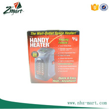 Plastic Black Handy Heater Plug-in Personal Heater