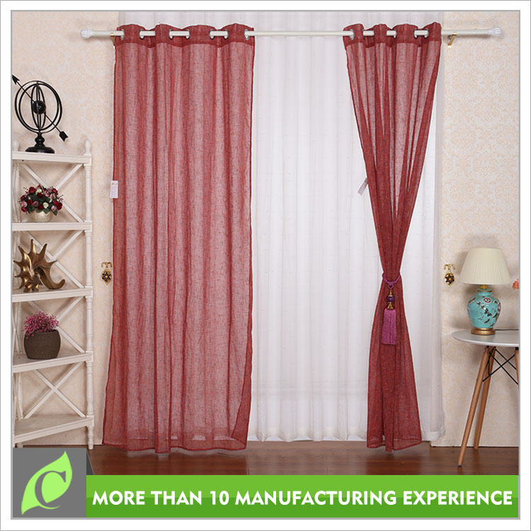 Home textile Window use Voile ready made curtains for living room