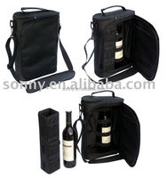 Hot sale leather wine case portable wine carrier