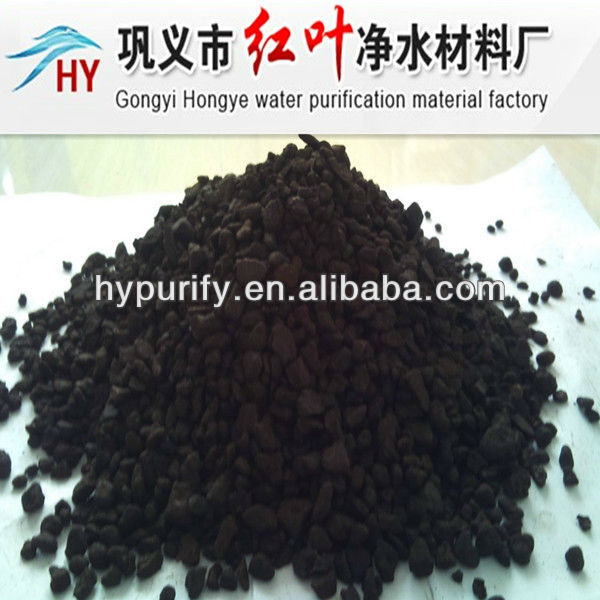 2-4mm/best filter material remove Fe and Mn/MANGANESE SAND FILTER