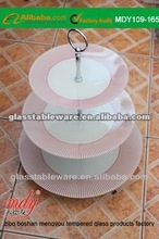 2 tier 3 tier Tempered Glass Cake and fruit stand