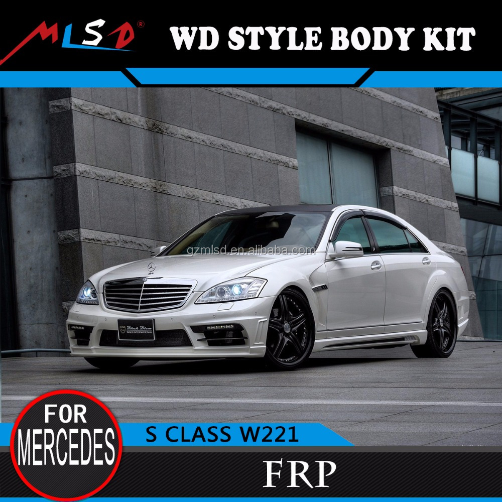High quality perfect fitment WD style W221 body kit auto bumper for Mercedes-Benz