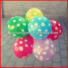 coloured round dot balloons with colorful sticks and cups