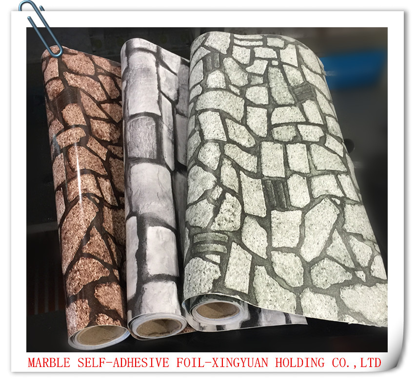 China pvc marble pattern printed self adhesive foil (contact paper ),decroative foil