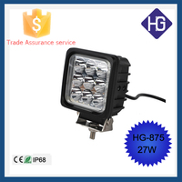 Factory price flood spot 12V 27W square Suv atv boat truck motorcycle led lighting