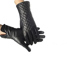 New Collection Fashion Ladies Sheepskin Genuine leather Wool Lined Women Gloves