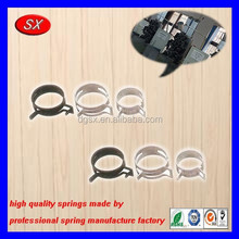 customized SAE iron steel hose clamp auto metal wiring small clips auto metal bending clip