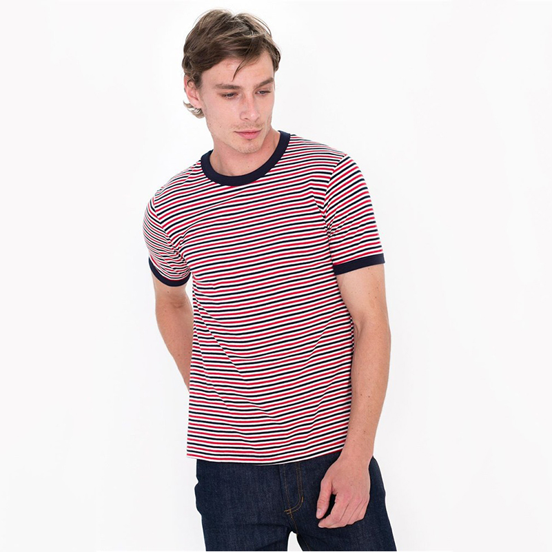 Clothing manufacturers yarn dyed striped wholesale for T shirt suppliers wholesale
