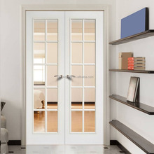 Villa standard white color interior double french door for builder