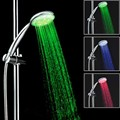 Temperature control 3 colour led shower head with color changing 8008-A1