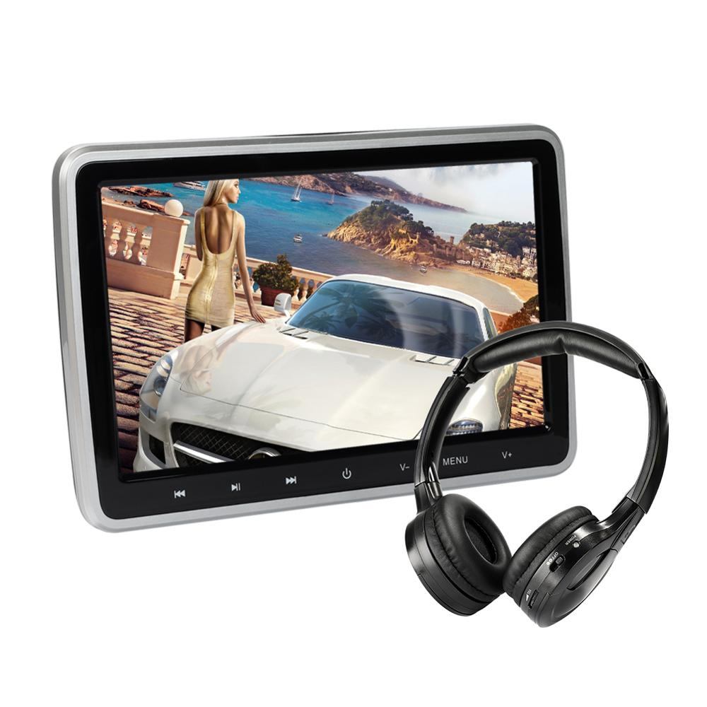 Car DVD <strong>Player</strong> with Headphone 10.1 inch Screen Headrest DVD <strong>Player</strong>, in Car Entertainment System for Kids with Remote HDMI USB