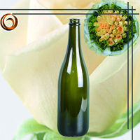 decorative 750ml clear glass champagne bottle