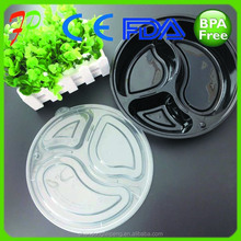 transparent safe food grade plastic bento containers packaging with lid