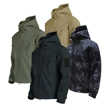 <strong>Men's</strong> Army Fans Military Tactical <strong>Jacket</strong> Camouflage Waterproof Combat <strong>Jacket</strong> Hoody Softshell Coat Army Uniform