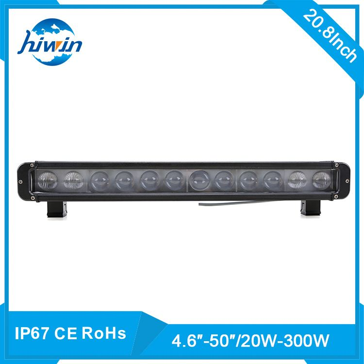 Hiwin 120w 20inch 20-300w/4.6-50inch optional 6000k Aluminum Shell High Lumen 20w single row led light bar off road led driving