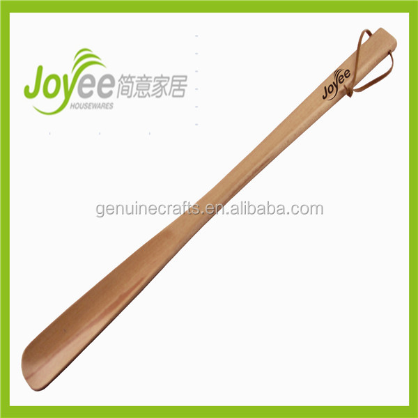 Wooden Shoe Horn With Leather Rope