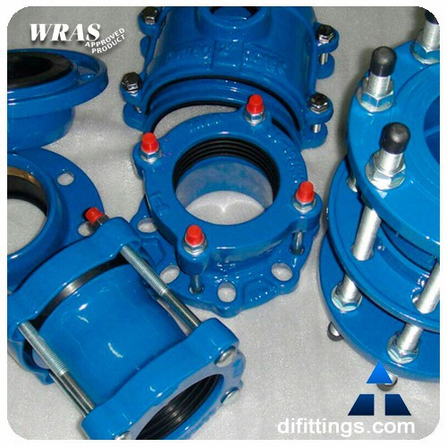 Flexible pipe sleeve mechanical coupling joint view