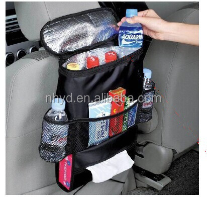Hot sell car seat organizer bag hanging storage pockets fashion useful back cooler