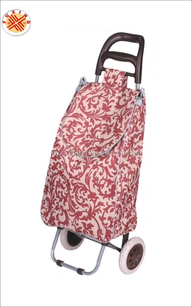 fuxing arts & crafts factory bag grocery trolley bag cart, foldable 12v dc electric golf trolley motor