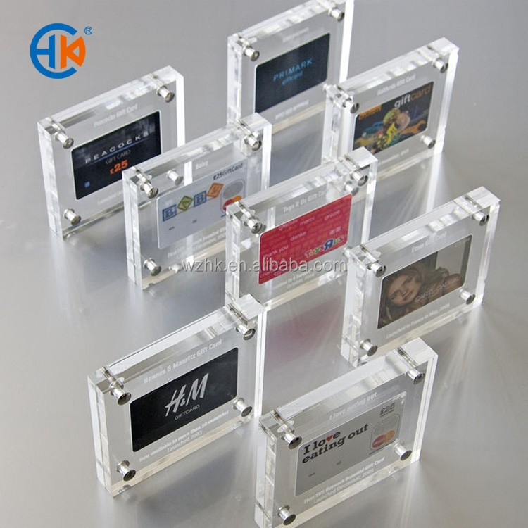 Cheap foto frame plastic , acrylic diy photo frame favor with insert card