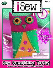 DIY owl sewing felt kids craft kit