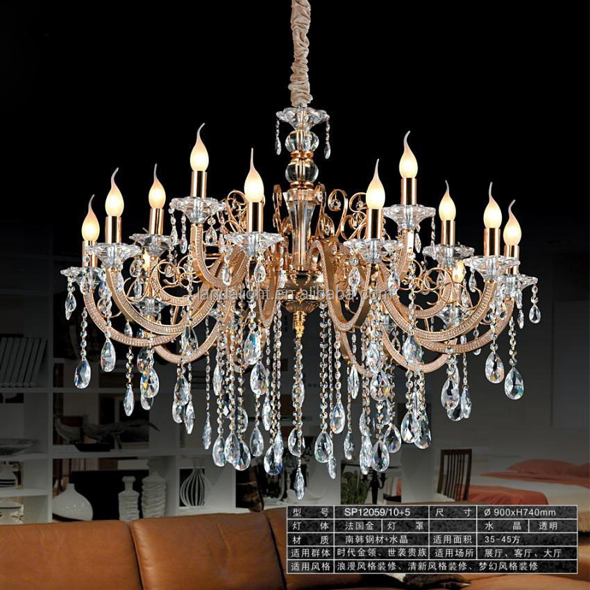 gold color crystal chandelier