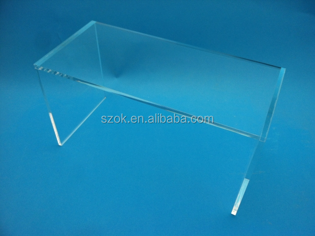 Clear new design acrylic book table risers for promotion