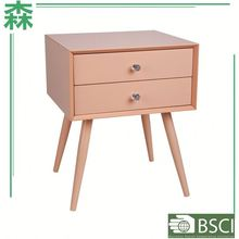 Anewway Houseware Simple Wooden Bedroom Furniture Triangle Shaped Cabinet Wooden Multi Drawers