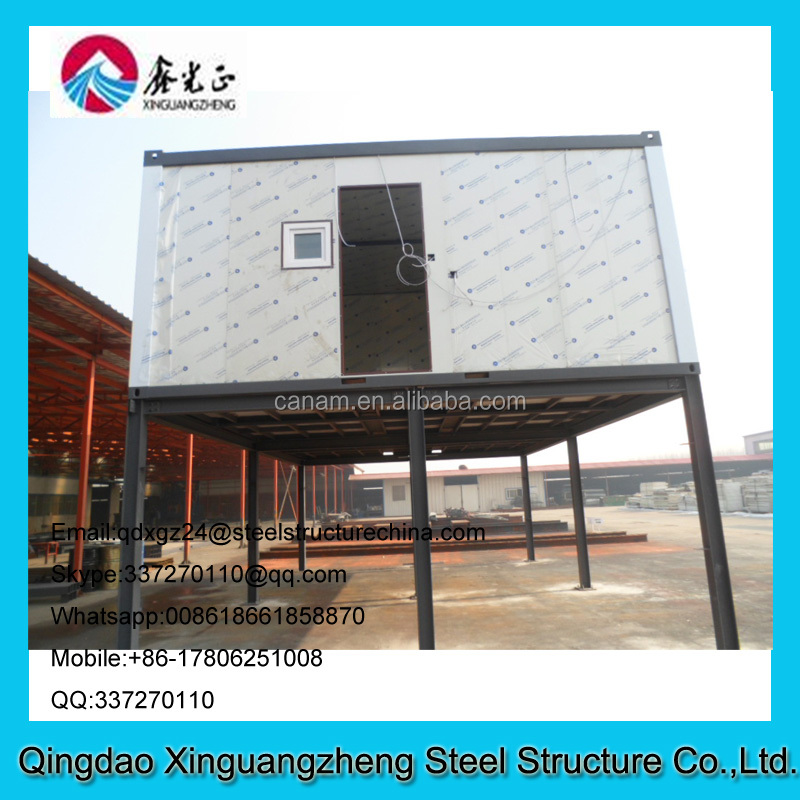 Sandwich panel wall and roof flat pack light steel frame china container house