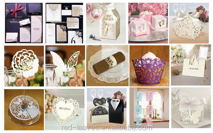 NR1101-08 wedding favors paper cutting napkin rings/towel napkin for restaurant/hotel