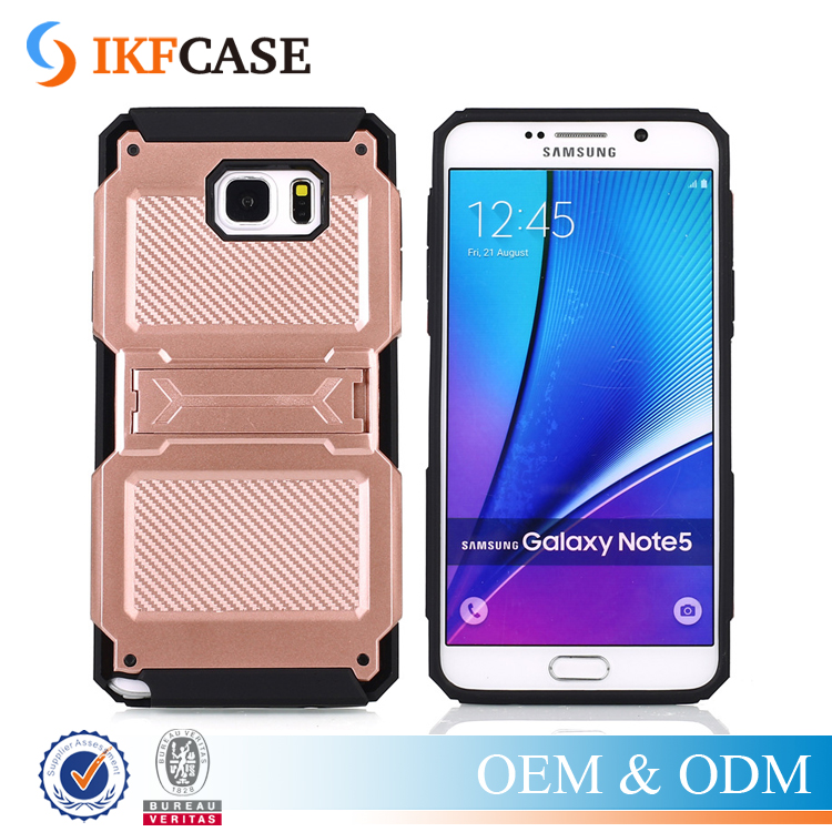 China Wholesale! Armor Hybrid Kickstand Rugged Case Cover for Samsung Galaxy Note 5