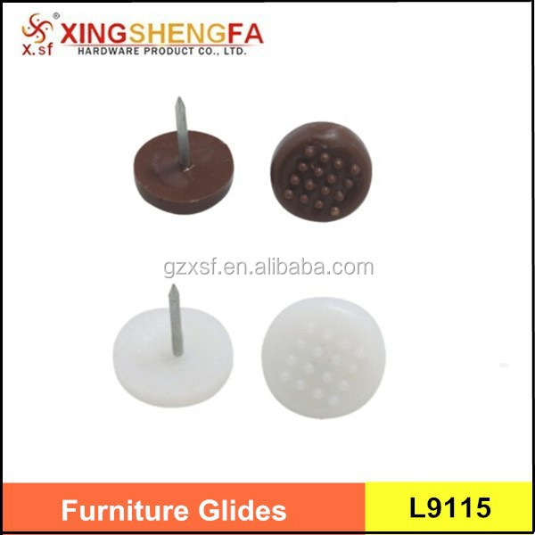 anti-skid plastic furniture glides for chairs