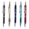 cheap aluminium Champagne Navy Blue Vienna Promotional high end click ballpoint pen with high quality refills