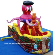 new commercial party use inflatables pirate ship boat slides for kids and adults sale