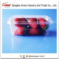 Disposable Clear Plastic Strawberry Container with Lid