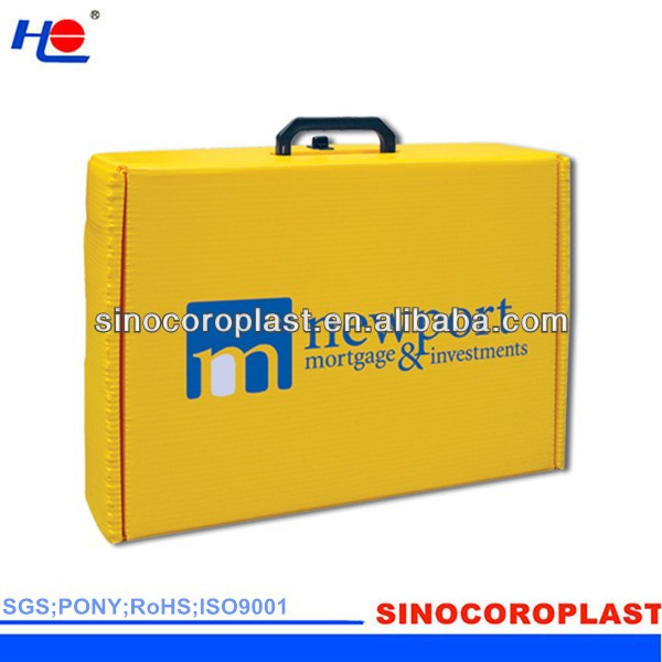 Color PP Corrugated Boxe with Handles