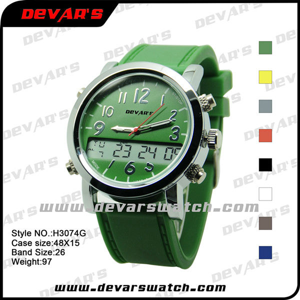 hot sale chronograph wrist watch, custom digital watch reloj pulsera