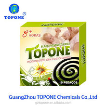 Manufacture supplier topone brand 125mm black fly repellent coil effective black mosquito coils