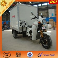 3 wheel tricyle with semi-cabin box