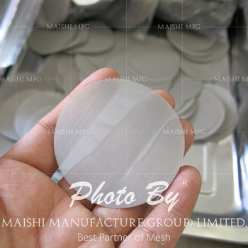 stainless steel mesh metal rimmed filter disc