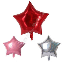 Happy New year Supplies Solid Plain foil balloons , 18''Star Shaped Balloons Plain foils in 7 colours Red Pink Gold Silver
