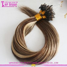 Good Feedback Ombre Micro Loop Ring Hair Extension No Shedding And Tangle Free Russian Keratin Bond Hair Extension Micro Beads