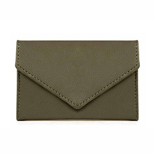 Olive Green Cheap Fancy Leather Ladies Hand Purse